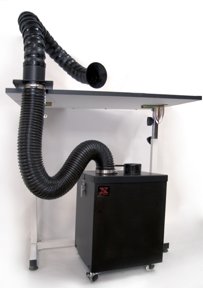 XYtronic Duo Vac Fume Extractor complete with arm kit